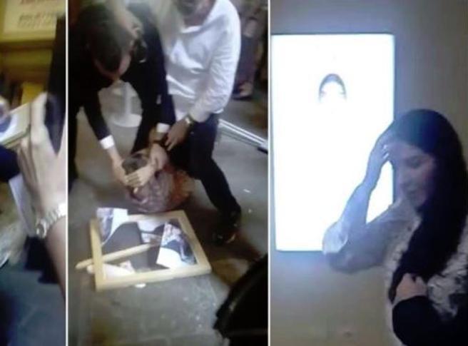 Firenze, l'aggressione a Marina Abramovic colpita con un quadro in testa