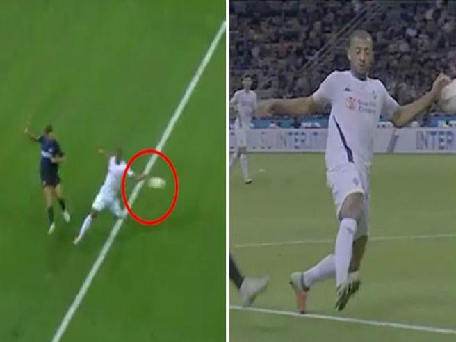 Inter, il rigore di «polpastrello» che ha fatto infuriare la Fiorentina
