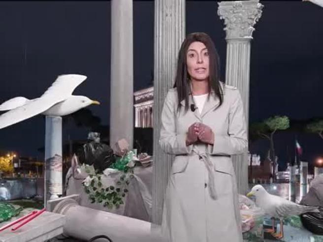 Sabina Guzzanti imita la sindaca Virginia Raggi, la diverten