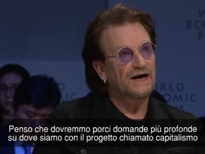 Bono a Davos: «Il capitalismo non è immorale, è amorale»