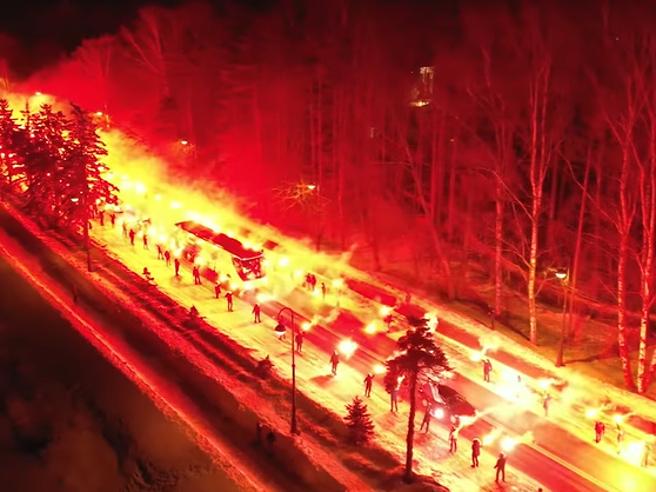 Europa League, la carica dei tifosi per lo Zenit San Pietroburgo. Il video è virale