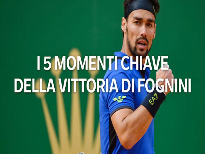 Montecarlo, l'impresa di Fognini, i 5 momenti chiave della vittoria su Nadal