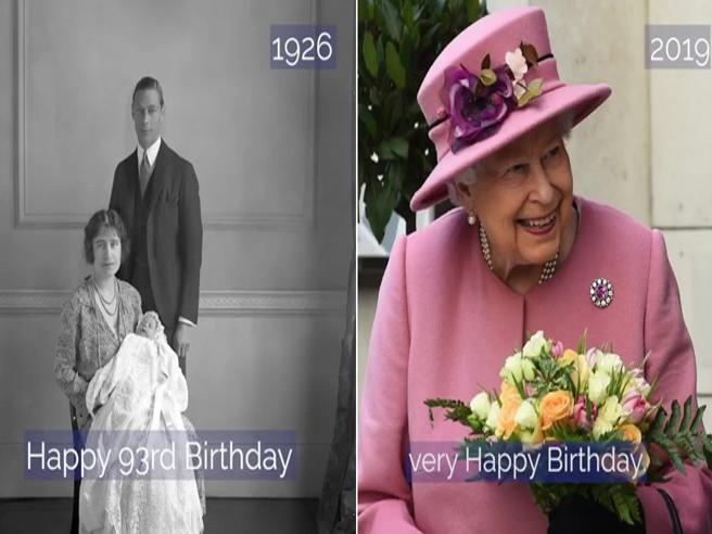 Dalla nascita a oggi, 93 anni di regina Elisabetta in 1 minuto
