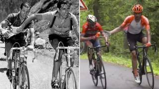Passa la borraccia all'avversario: Nibali e Ventoso come Coppi e Bartali