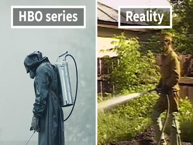 Realtà e  fiction a confronto: ecco le vere scene di «Chernobyl»