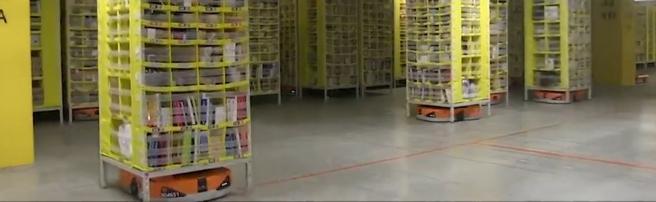 Amazon, nel magazzino dove lavorano solo i robot