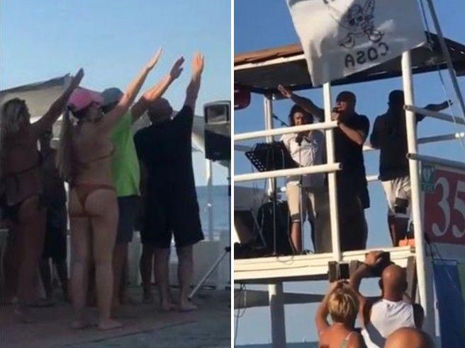 Sottomarina, spiaggia fascista: ecco cos'è andato in scena a