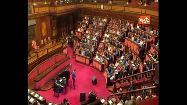 Massimo Ranieri incanta l'Aula di Palazzo Madama