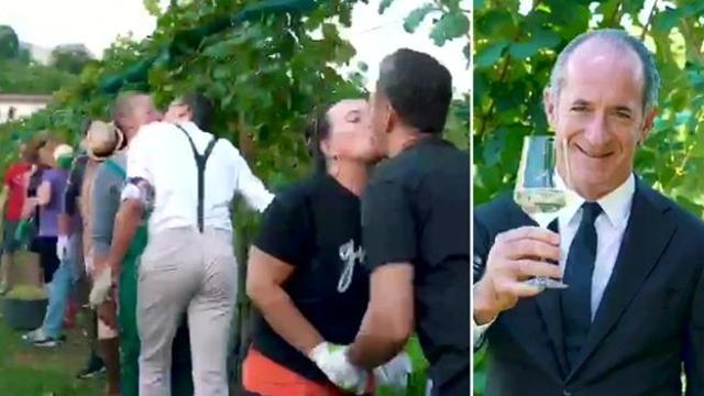 Il popolo del Prosecco: tra baci gay e drag queen spunta anche Zaia
