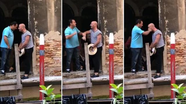 Venezia, niente selfie sulla gondola: pugni e testate al gondoliere | Video