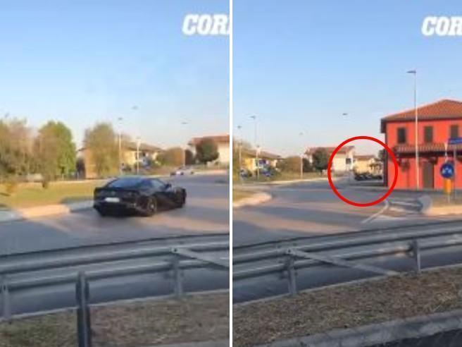 Distrugge la Ferrari: l'accelerazione,  la frenata e lo schianto