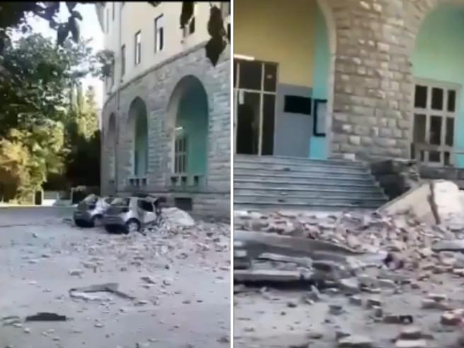 Terremoto in Albania, scossa di 5.8: crolli e oltre 40 feriti Video