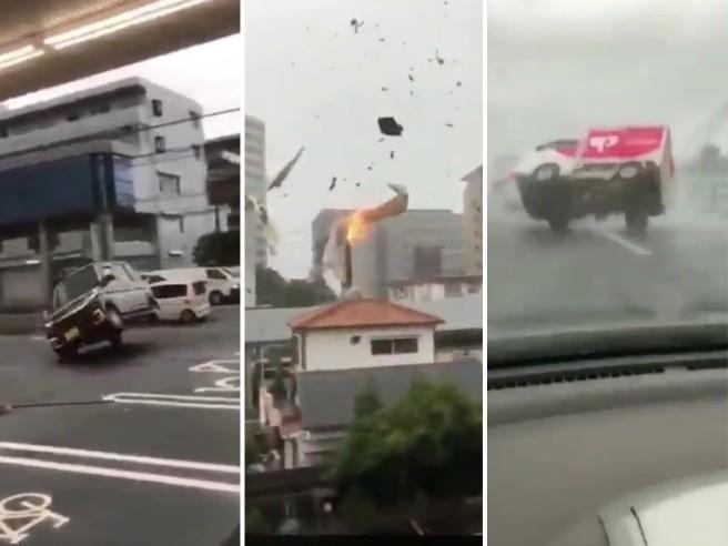 Giappone, il tifone Hagibis solleva i camion e le case: le immagini impressionanti