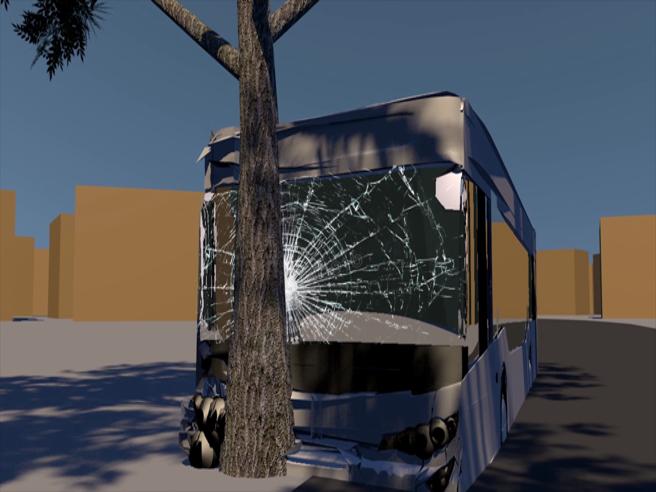 Il bus contro l'albero a Roma: cosa è successo. La ricostruzione in 3D