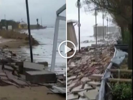 Maltempo, danni a spiagge e strutture balneari a Jesolo - Corriere TV