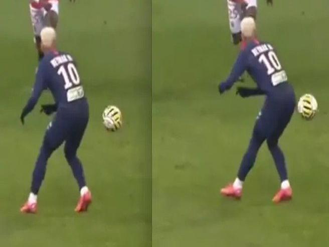 L'assist «da dietro» di Neymar