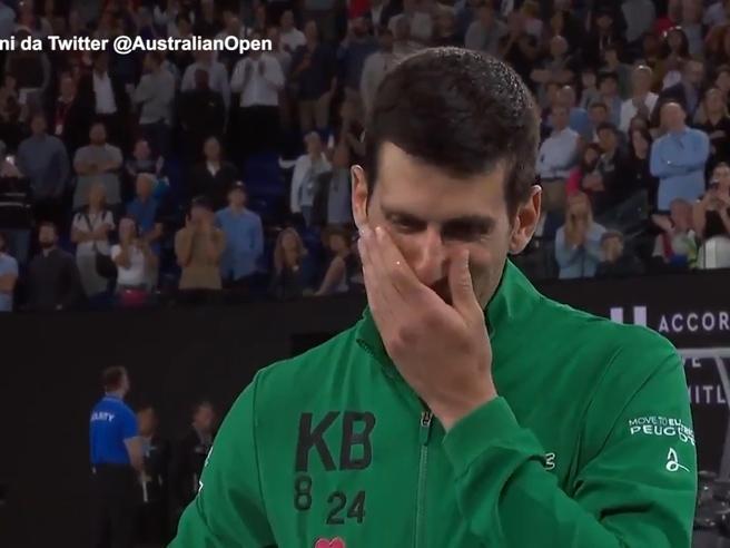 Kobe Bryant, Djokovic in lacrime: «Mi si spezza il cuore»