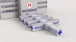 Il progetto italiano: i container diventano unità di terapia intensiva