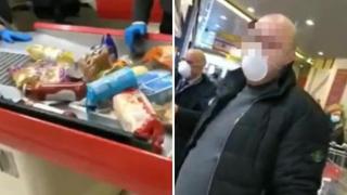 Napoli, fa la spesa al supermercato ma si rifiuta di pagare: «Non ho soldi»