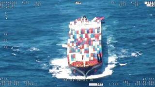 Mare in burrasca: la nave cargo perde 40 container