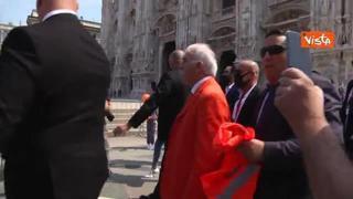 Manifestazione Gilet arancioni, Antonio Pappalardo: «Basta mascherine e vaccini sono pericolosi»