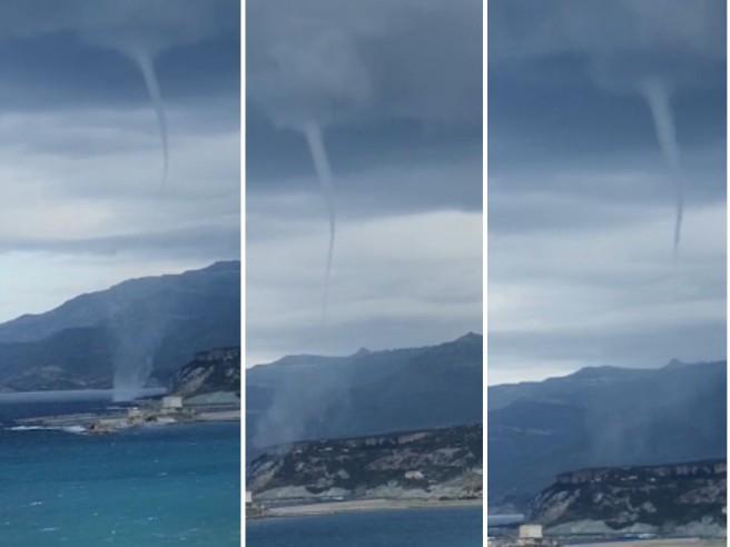 Tromba d'aria sulla costa ovest della Sardegna: il fenomeno non ha causato danni