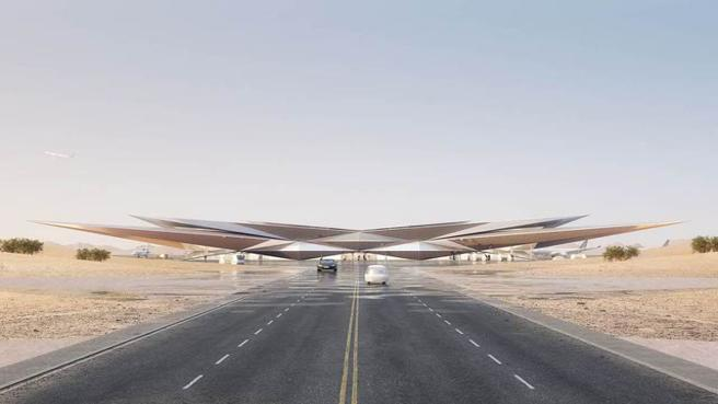 L'incredibile aeroporto in Arabia Saudita è un «miraggio» nel deserto