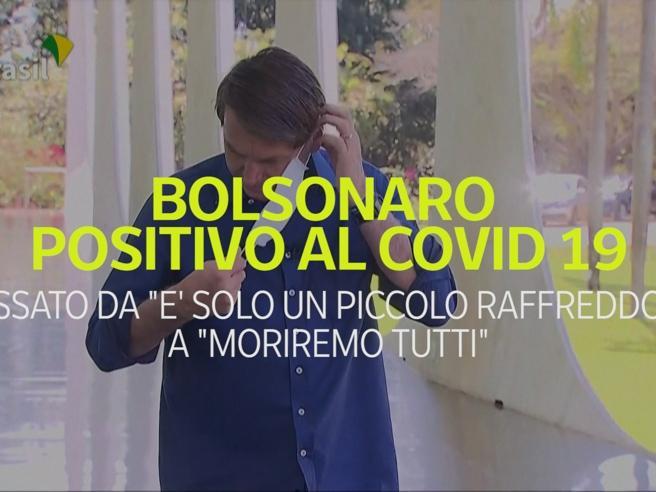 Bolsonaro positivo al Covid, è passato da «un piccolo raffreddore a «moriremo tutti»