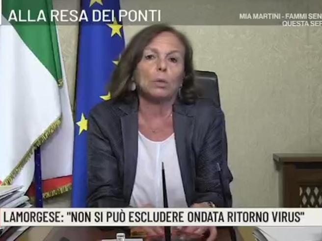 Post Covid, Lamorgese: «In autunno avremo grave crisi economica, c'è rischio concreto di tensioni»