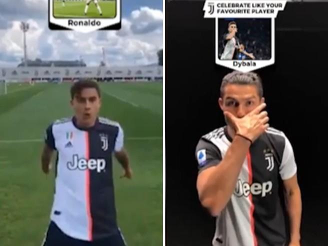 Juve, campioni anche di imitazioni su Tik Tok: Dybala e Ronaldo si scambiano il modo di festeggiare