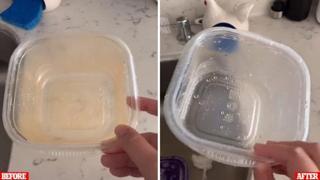 «Il trucco»: ecco come pulire le vaschette di plastica in meno di un minuto