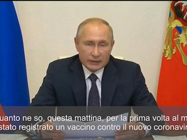 Coronavirus, Putin: «Abbiamo registrato il primo vaccino»
