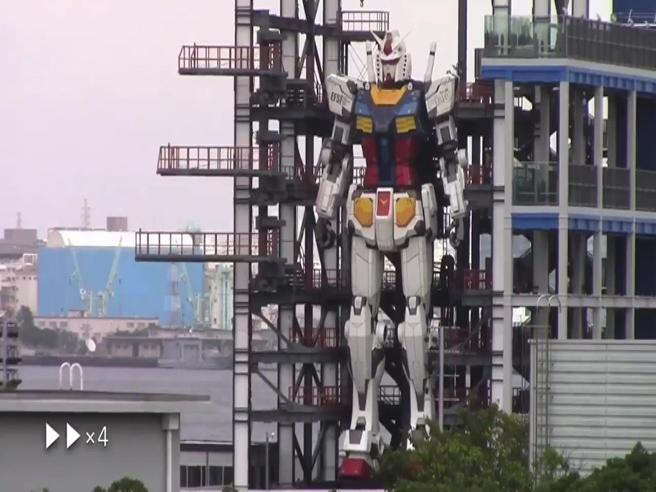 Gundam, il robot dei cartoni anni '80 diventa realtà e muove i primi passi