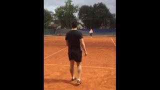 Falcao, la sfida a tennis con i piedi