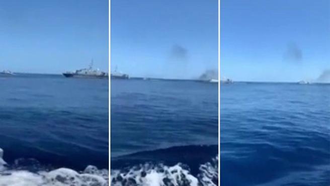 Lampedusa, la Guardia di Finanza apre il fuoco contro un peschereccio tunisino: il video