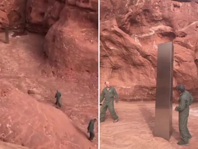 Nel deserto dello Utah hanno trovato un misterioso monolite di metallo