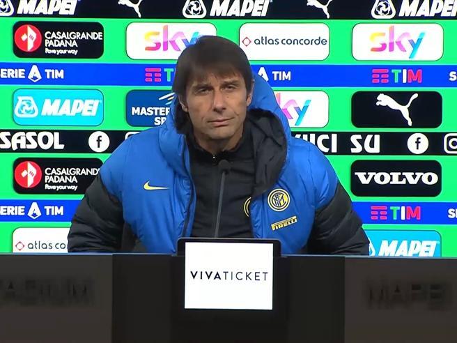 Sassuolo-Inter, Conte: «Qui niente è facile, qualcuno butta negatività nell'ambiente»