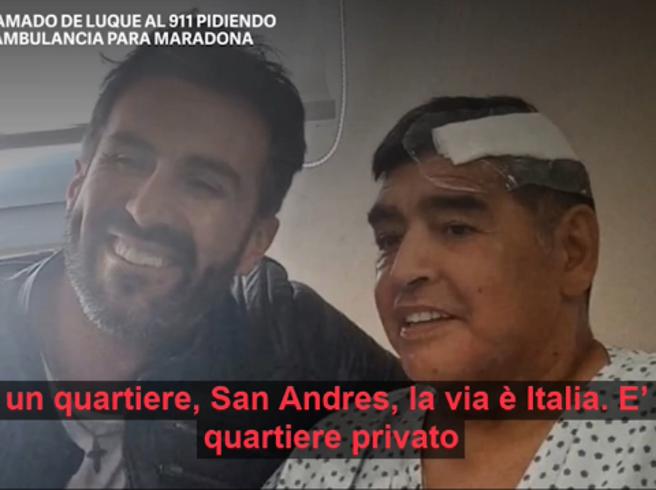 Maradona, la telefonata del medico al 911: «Qui serve un'ambulanza urgente»