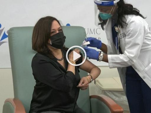 Usa, Kamala Harris si sottopone al vaccino anti-Covid