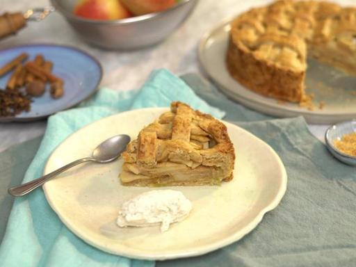 La ricetta dell'apple pie al caramello salato