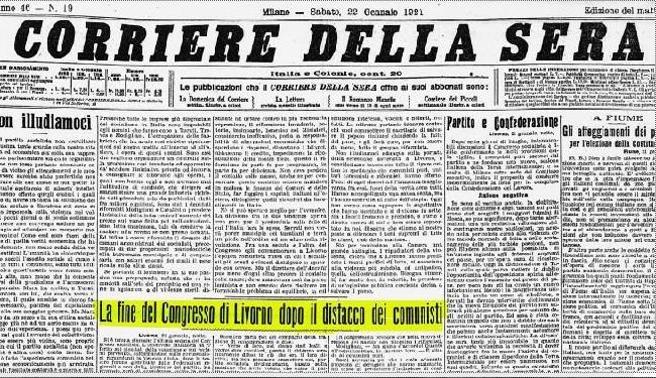 Oggi, 100 anni fa la prima scissione a sinistra: così nacque il Partito Comunista d'Italia