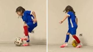 L'allenamento ipnotico: a 6 anni controlla la palla da campione