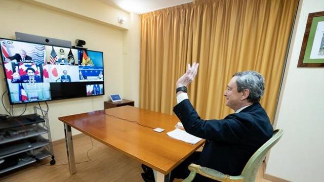 Draghi partecipa alla videoconferenza dei leader del G7 - Corriere TV