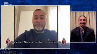 Videomessaggio del motociclista che ha dato un passaggio a Ibra: «Il mio numero ce l'hai, se serve chiamami»