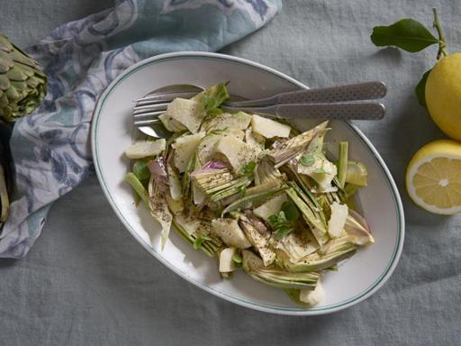 La ricetta dell'insalata di carciofi pronta in 20 minuti
