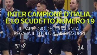 Inter campione d'Italia, è lo Scudetto numero 19