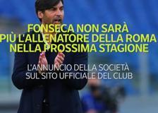 Serie A, Fonseca non sarà più l'allenatore della Roma nella prossima stagione
