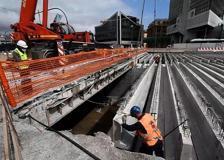 Genova, ultime operazioni per la messa in sicurezza del Bisagno
