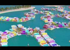 Quando l'uomo copia la natura: ecco il corallo-città galleggiante delle Maldive