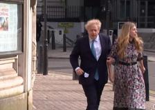 Elezioni sindaco di Londra, Boris Johnson al seggio